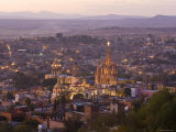 San Miguel de Allende and La Parroquia Church, Guanajuato State, Mexico Photographic Print by Peter Adams