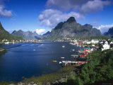Norway, Fishing Village of Reine, Lofoten Islands, Nordland Photographic Print by Gavin Hellier