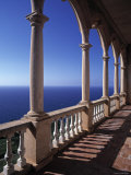 Verandah of Mansion, Son Marroig, Majorca, Spain Photographic Print by Rex Butcher