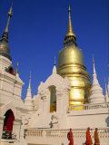 Thailand, Chiang Mai, Wat Suan Dok Photographic Print by Steve Vidler