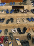 Thailand, Chiang Mai, Shoes Outside a Temple Photographic Print by Steve Vidler