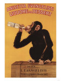 Italy - Anisetta Evangelisti Liquore da Dessert Promotional Poster Sztuka autor Lantern Press