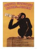 Italy - Anisetta Evangelisti Liquore da Dessert Promotional Poster Art