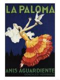 Spain - La Paloma - Anis Aguardiente Promotional Poster Kunstdrucke