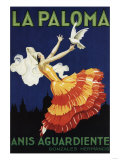 Spain - La Paloma - Anis Aguardiente Promotional Poster Prints by  Lantern Press
