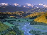 Kaikoura Range, South Island, New Zealand Fotografisk tryk af Doug Pearson