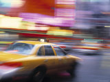 Taxi, New York City, USA Photographic Print by Peter Adams