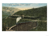 Coeur d' Alene Northern Pacific Railway - S Bridge Prints by  Lantern Press