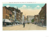 Binghamton, New York - Eastern View of Court Street from Water Street Prints by  Lantern Press