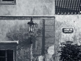Strret Lamp and Wall, Prague, Czech Republic Photographic Print by Jon Arnold