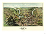 Cumberland, Maryland - Panoramic Map Prints by  Lantern Press
