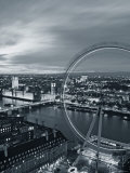 Houses of Parliament and Millennium Wheel, London, England Photographic Print by Doug Pearson