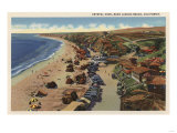 Laguna Beach, California - Aerial of Crystal Cove Poster