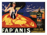 France - Fap'Anis Celui Des Connaisseurs Advertisement Poster Premium Giclee Print by  Lantern Press