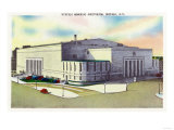 Buffalo, New York - Exterior View of the Buffalo Memorial Auditorium Prints by  Lantern Press