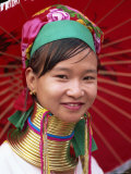 Thailand, Chiang Rai, Long Neck Karen Hilltribe, Long Neck Woman Photographic Print by Steve Vidler