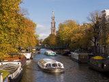 Holland, Amsterdam, Prinsengracht, Westerkerk Church Photographic Print by Gavin Hellier