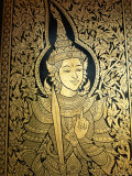 Thailand, Lamphun, Wat Haripunchai, Door Detail Photographic Print by Steve Vidler