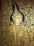 Thailand, Lamphun, Wat Haripunchai, Door Detail Photographic Print by Steve Vidler