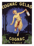 France - Cognac Gelas Promotional Poster Art
