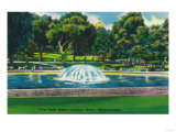 Boston, Massachusetts - View of Boston Common Frog Pond Art by  Lantern Press