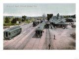 Colorado Springs, Colorado - D & R G Railroad Depot Art by  Lantern Press