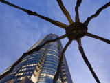 Japan, Honshu, Tokyo, Roppongi Hills, Mori Tower and Maman Spider Sculpture Photographic Print by Gavin Hellier