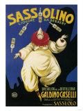 Italy - Sassolino Liquore da Dessert Promotional Poster Affiches par  Lantern Press