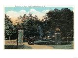 Binghamton, New York - Ross Park Entrance View Prints by  Lantern Press