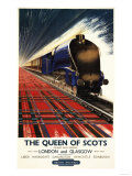 Great Britain - Queen of Scots Pullman Train British Railways Poster Art by  Lantern Press
