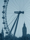 London Eye and Big Ben, South Bank, London, England Fotografie-Druck von Alan Copson