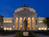 Romania, Bucharest, Piata George Enescu, Romanian Athenaeum Concert Hall Photographic Print by Gavin Hellier