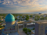 The Blue Domes of the Registan, Samarkand, Uzbekistan Photographic Print by Michele Falzone