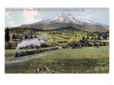 Edgewood, California - Mt. Shasta and Southern Pacific Rail Prints by  Lantern Press