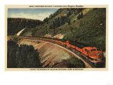 Glacier National Park, Montana - Empire Builder Train Prints by  Lantern Press