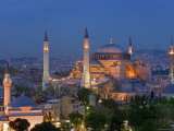 Aya Sofya Sultanahmet, Unesco World Heritage Site, Istanbul, Turkey Photographic Print by Gavin Hellier