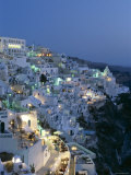 Thira, Santorini , Cyclades Islands, Greece Photographic Print by Steve Vidler