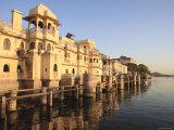 Gangaur Ghat, Pichola Lake, Udaipur, Rajasthan, India Photographic Print by Ivan Vdovin