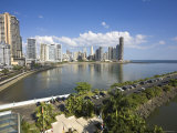 Panama, Panama City, Avenue Balboa and Punta Paitilla Photographic Print by Jane Sweeney