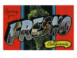 Fresno, California - Large Letter Scenes Prints