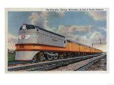 Chicago, Illinois - The Hiawatha No.2 Railroad Train Art by  Lantern Press