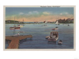 Harwichport, Cape Cod, MA - Wychmere Harbor Scene Prints by  Lantern Press