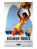 Bognor Regis, England - British Railways Girl and Beachball Poster Kunst von  Lantern Press