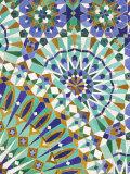 Tile Detail, Hassan II Mosque, Casablanca, Atlantic Coast, Morocco, North Africa Fotografie-Druck von Walter Bibikow