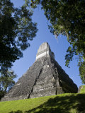 Guatemala, El Peten, Tikal, Gran Plaza, Temple of the Great Jaguar Photographic Print by Jane Sweeney
