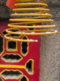 China, Macau, the a Ma Temple, Huge Hanging Incense Coils - Detail Photographic Print by Gavin Hellier
