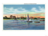 Cape Cod, Massachusetts - Sailboats in Lewis Bay, Englewood Beach View Art by  Lantern Press