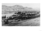 Chelan, Washington - Aerial View of Town and Lake Art by  Lantern Press