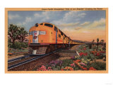 "California - Union Pacific Railroad ""City of Los Angeles"" Train Art by  Lantern Press"