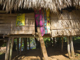 Panama, Chagres River, Embera Village, Thatched Hut Photographic Print by Jane Sweeney